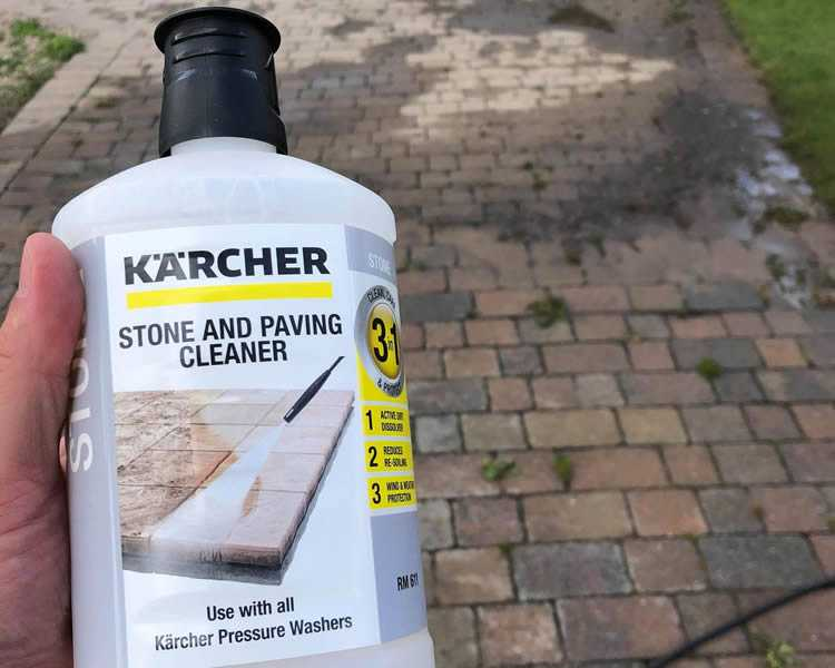 how to clean block paving driveway