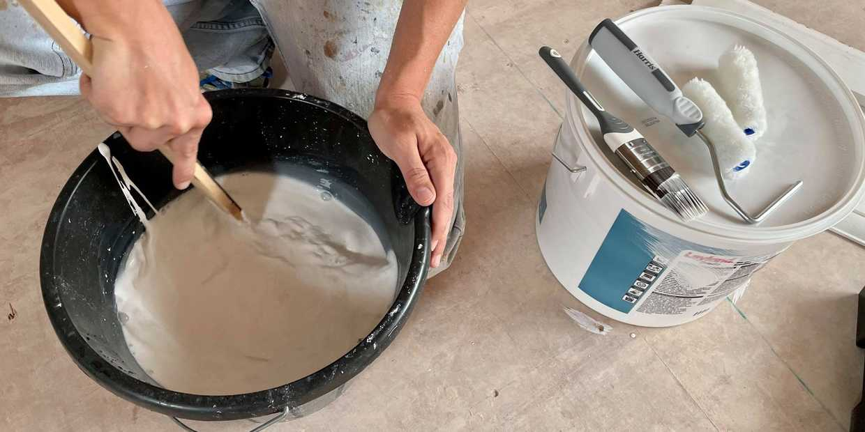 how to paint fresh plaster