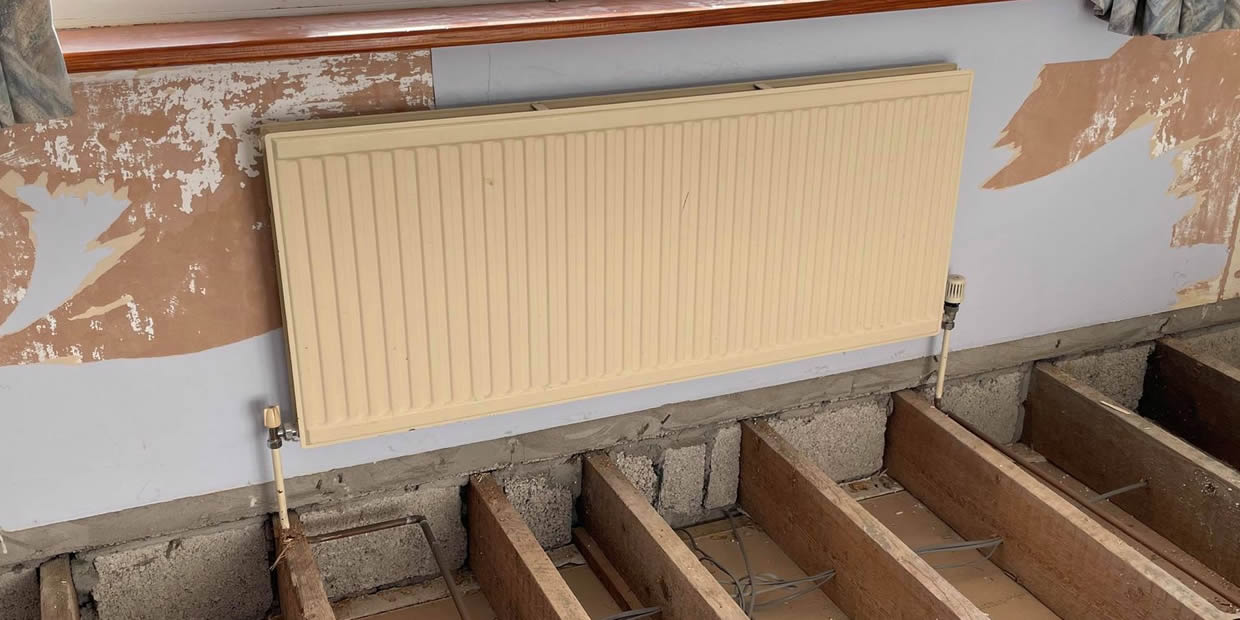 how to replace a radiator with a smaller one
